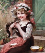 Émile Vernon_1872-1919_Fillette et son petit chat.jpg