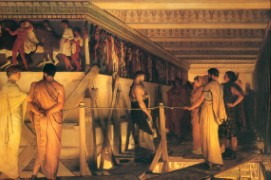 Lawrence Alma-Tadema_1868_Phidias Showing the Frieze of the Parthenon to his Friends.jpg