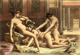 Paul Avril_1906_De figuris Veneris_19. Cunnilingus, Group sex.jpg